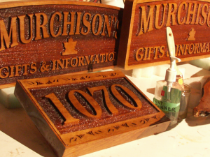 Carved Wood Signs