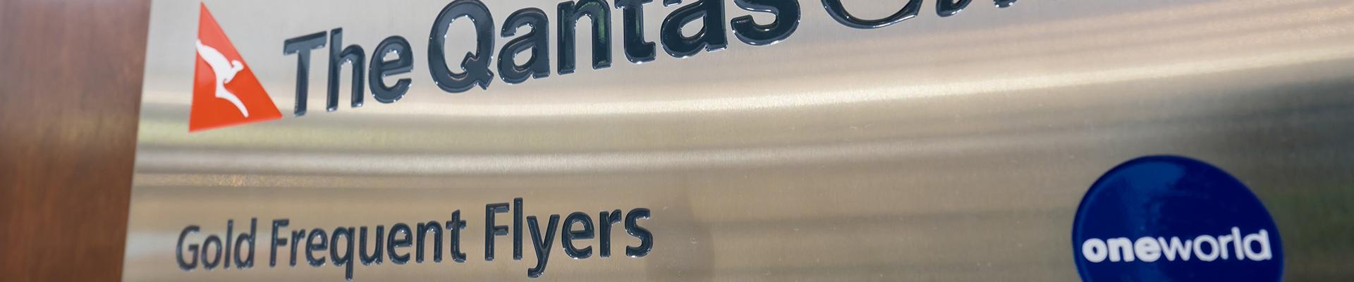 Lobby Logo Sign - Qantas Club