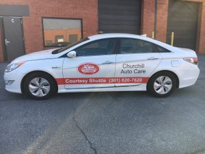 Vehicle Wraps for Churchill Auto Care