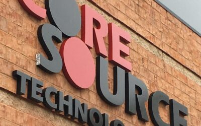 Cast Aluminum Lettering Created For Core Source