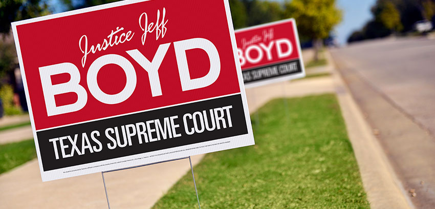 Yard Signs: Affordable Political Exposure